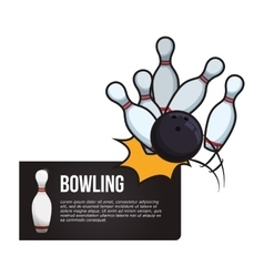 Bowling design sport icon flat vector