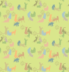 Seamless texture with cats vector