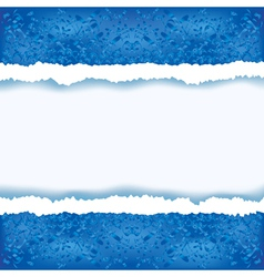 Abstract blue background with torn paper vector image vector image