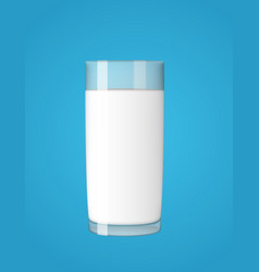 abstract milk glass on blue background vector image