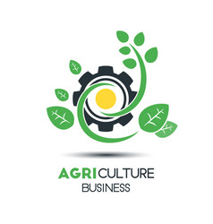 agriculture business logo template unique green vector image vector image
