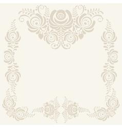beige Floral pattern background vector image vector image