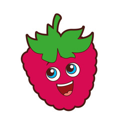 Blackberry fruit kawaii character vector