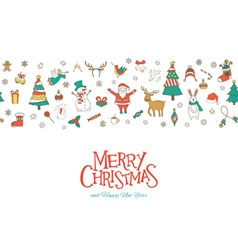 Christmas seamless pattern banner vector