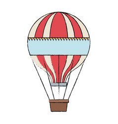 Circus airballoon festival fly basket funfair vector