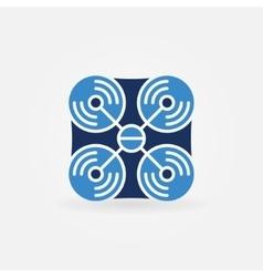Drone blue icon vector image