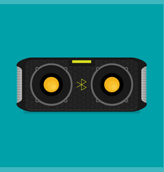 Flat bluetooth speakers vector