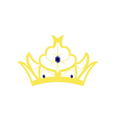 flat icons on theme of andorra crown vector image