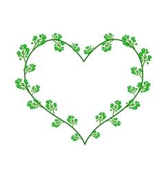 Flowers of neem in a heart shape vector