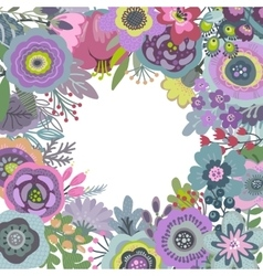 graphic frame with beautiful flowers vector image vector image
