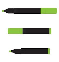 Green marker set vector image vector image