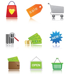 icon set shoping vector image