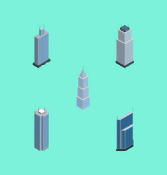Isometric skyscraper set of business center vector