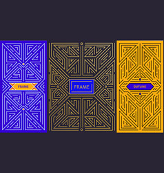 monogram design elements in trendy vintage vector image