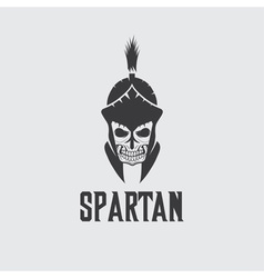 Old vintage antiques skull spartan warrior design vector