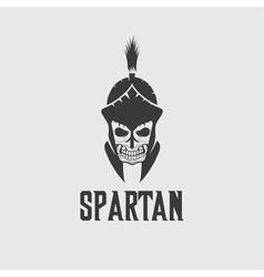 Old vintage antiques skull spartan warrior design vector