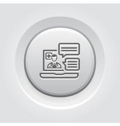 Online medical services icon grey button design vector