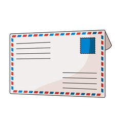 Postal envelopemail and postman single icon in vector