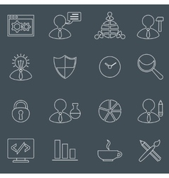 Seo icons set outline vector