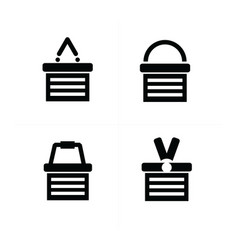 Shopping cart icon set 4 style vector