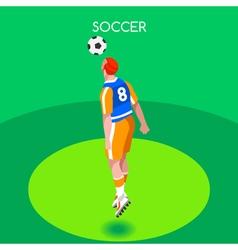 Soccer Header 2016 Summer Games Isometric 3D vector image