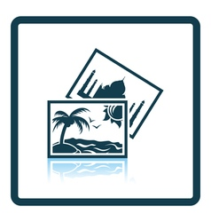 Two travel photograph icon vector image