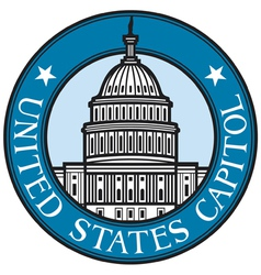United states capitol badge vector