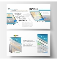 Business templates in hd format for presentation vector