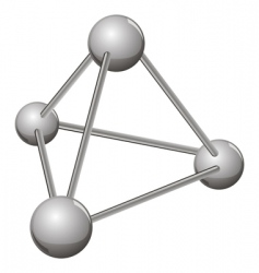 Simple silver molecule vector