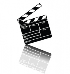 Entertainment clapper vector