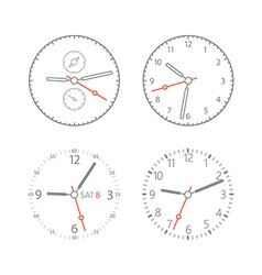 Modern digital watch dials vector