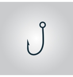 Hook icon vector