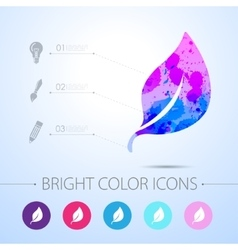 Leaf icon with infographic elements vector