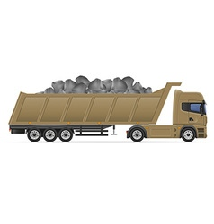 Truck semi trailer concept 10 vector