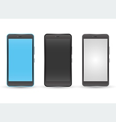 Modern touchscreen cellphone tablet smartphone vector