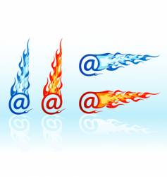 fire e-mails vector image