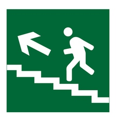 Infographic of man on stairs icon vector