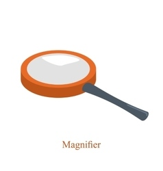Magnifier to enlarge small objects for scientific vector