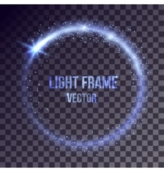 blue light frame vector image