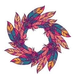 Color circular pattern round kaleidoscope vector