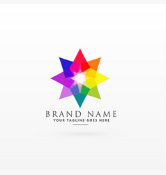 Abstract colorful logo design concept vector