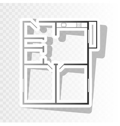 Apartment house floor plans new year vector