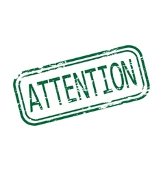 Attention rubber stamp vector image