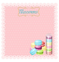 Border design with macarons vector image