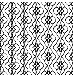 Calligraphic pattern with curls vector