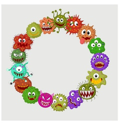 Cartoon germ colony vector
