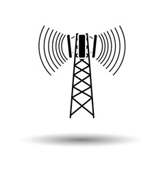 Cellular broadcasting antenna icon vector image vector image