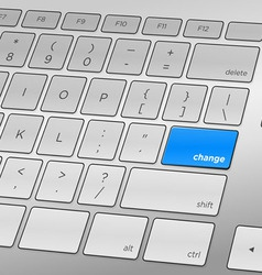 Change Keyboard vector image