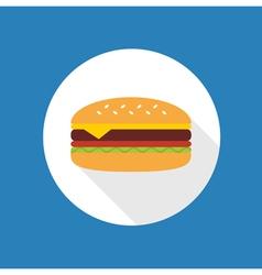 Cheeseburger flat icon vector