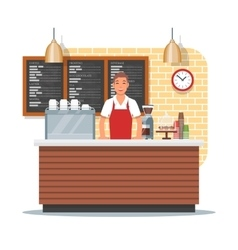 Coffee shop design with vector
